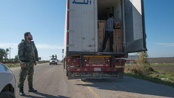 Humanitarian convoy. (File) - Sputnik International
