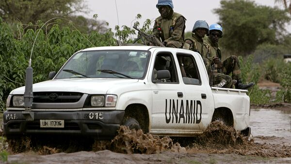 Convoy of the joint United Nations-African Union force. (File) - Sputnik International
