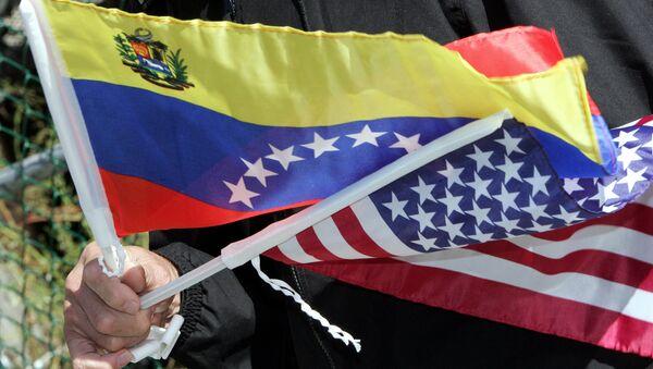 Flags of Venezuela and the USA - Sputnik International