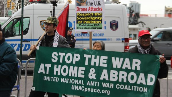 Activists call for the US to stay out of 'unjust' wars - Sputnik International