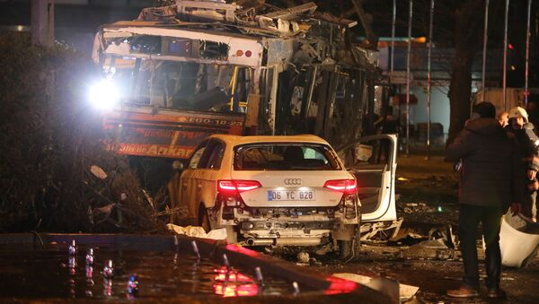 Terrorist Car Bomb Attack on Central Ankara Shreds Public Square - Sputnik International