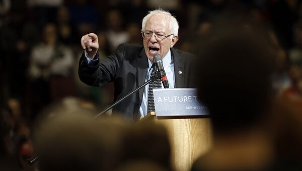 Democratic presidential candidate, Sen. Bernie Sanders, I-Vt., speaks during a campaign stop on Sunday, March 13, 2016, at Ohio State University in Columbus, Ohio - Sputnik International