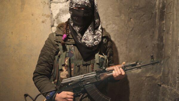 Female Kurdish fighter (File) - Sputnik International