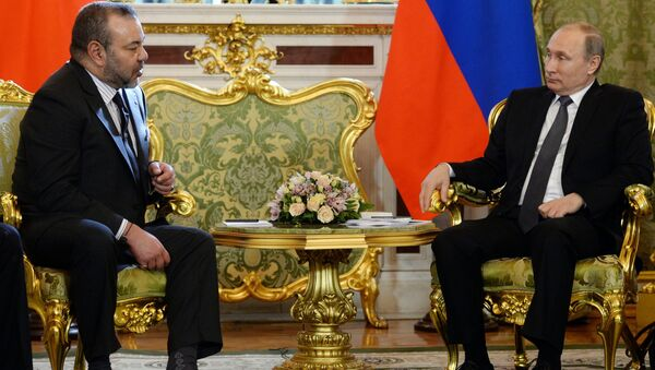 March 15, 2016. Russian President Vladimir Putin, right, and King Mohammed VI of Morocco meet in the Kremlin - Sputnik International