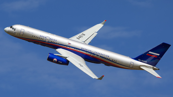 A Russian Air Force Tupolev Tu-214OS at Ramenskoye Airport (UUBW) - Sputnik International