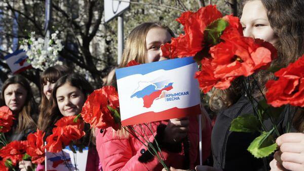 Celebration in Simferopol, Crimea of the second anniversary of the referendum to rejoin Russia. - Sputnik International
