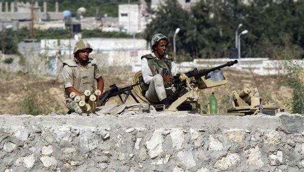 Egyptian soldiers, Rafah, Egypt (file photo) - Sputnik International