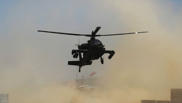 US Army AH-64 Apache attack helicopter. File photo - Sputnik International