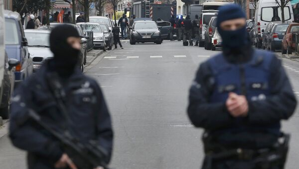 Police at the scene of a security operation in the Brussels suburb of Molenbeek in Brussels, Belgium - Sputnik International