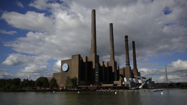 The power plant of the Volkswagen factory in the city Wolfsburg, Germany (File) - Sputnik International