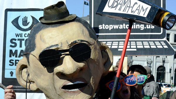 Rally against mass surveillance - Sputnik International