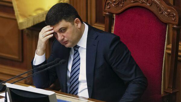 Ukrainian Parliament Speaker Volodymyr Groysman attends a parliament session in Kiev, Ukraine, March 15, 2016 - Sputnik International
