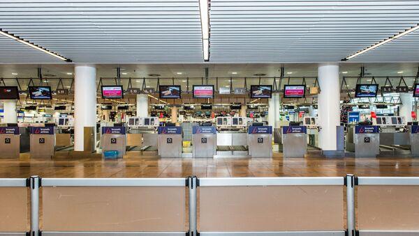 The empty airport departure hall in Zaventem (File) - Sputnik International