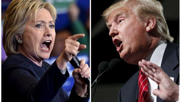 Democratic presidential candidate Hillary Clinton (L) and Republican presidential candidate Donald Trump (File) - Sputnik International