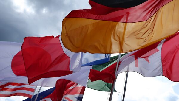 The flags of the G7 countries. File photo - Sputnik International
