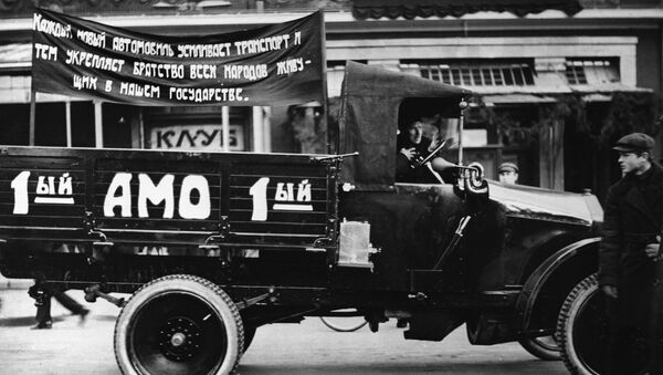 The first Soviet AMO-F-15 truck, made in 1924. A reproduction - Sputnik International