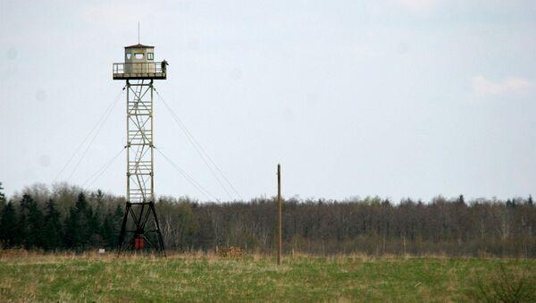 A Russian watchtower overlooks the disputed territories close to Pitalova region, near Vilaka, Latvia. (File) - Sputnik International
