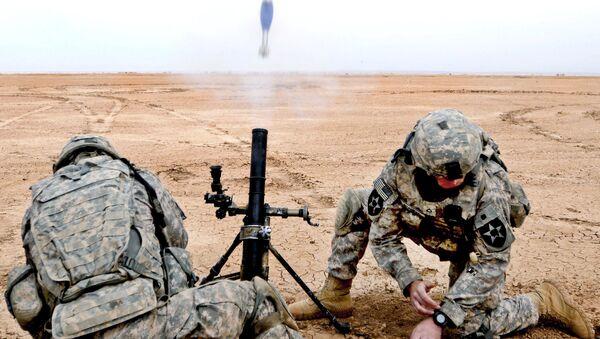 M224A1 mortar firing - Sputnik International