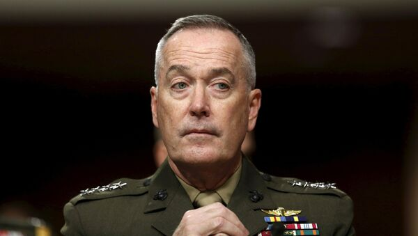 Joint Chiefs of Staff Chair USMC General Joseph Dunford Jr. testifies before the Senate Armed Services Committee hearing on Capitol Hill in Washington March 17, 2016 - Sputnik International