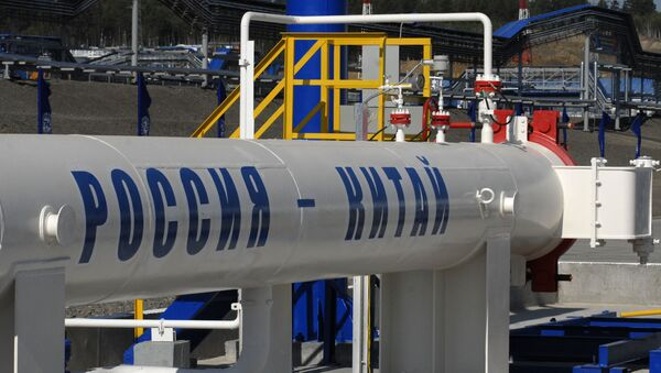 Oil pipe section from Russia to Chinese border - Sputnik International