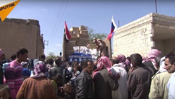 Russia Delivers Humanitarian Aid to Aleppo - Sputnik International