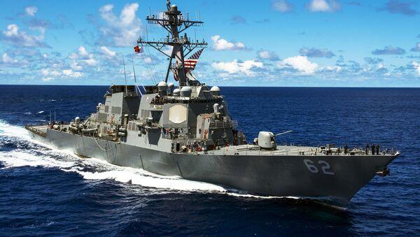 An Arleigh Burke-class guided-missile destroyer - Sputnik International