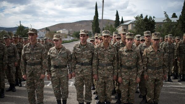 Soldiers of the army of self-proclaimed Nagorno-Karabakh Republic - Sputnik International