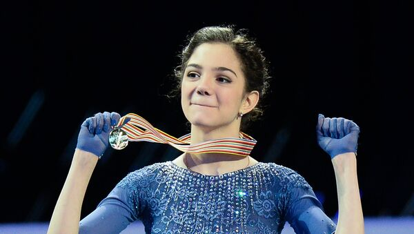 Gold medalist Evgenia Medvedeva of Russia - Sputnik International