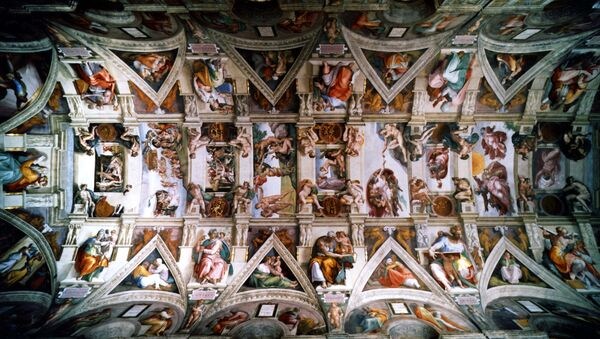 An undated picture showing the ceiling of the Sistine Chapel in the Vatican City - Sputnik International