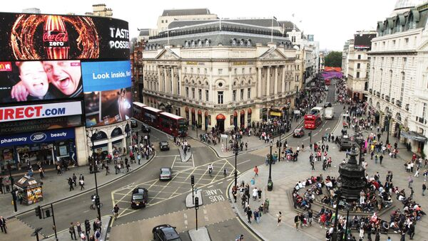 Piccadilly Circus is seen in central London in this file photo taken July 31, 2012. - Sputnik International
