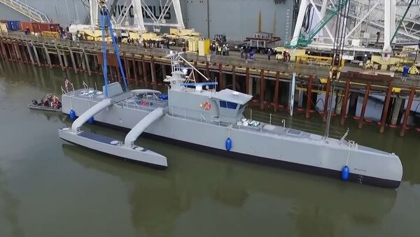 Anti-Submarine Warfare Continuous Trail Unmanned Vessel Speed Testing - Sputnik International
