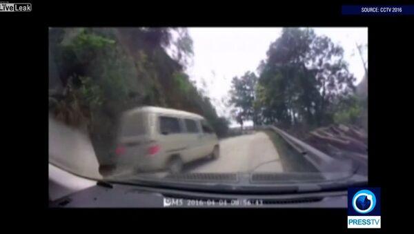 Landslide recorded in south China - Sputnik International