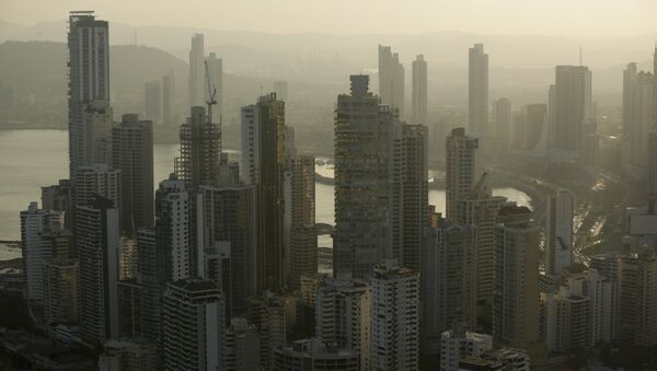 Panama City skyline is seen at sunset in Panama (File) - Sputnik International