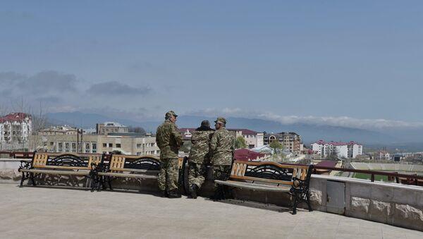 Uniformed men in Stepanakert, the unrecognized Nagorno-Karabakh Republic - Sputnik International