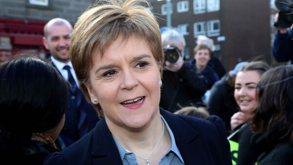 Nicola Sturgeon, First Minister of Scotland and leader of the Scottish National Party (SNP) - Sputnik International