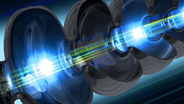 Illustration of an electron beam traveling through a niobium cavity – a key component of SLAC's future LCLS-II X-ray laser - Sputnik International