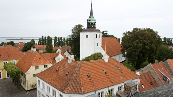 View of the main square and the church in downtown Aeroeskoebing, on the small Danish island of Aeroe, 30 August 2012 - Sputnik International
