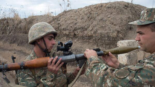 Soldiers of the army of the self-proclaimed Nagorno-Karabakh Republic (File) - Sputnik International