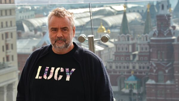 Luc Besson presents his movie Lucy in Moscow - Sputnik International