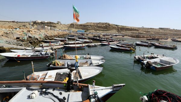 Fishing boats are moored in the southern Iranian port city of Chabahar on May 14, 2015 - Sputnik International