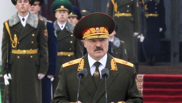 Belarusian President Alexander Lukashenko attends a military parade during his inauguration ceremony in Minsk, Belarus, Friday, Nov. 6, 2015 - Sputnik International