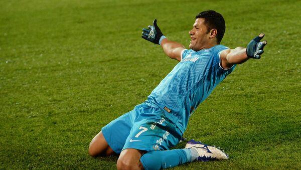 Zenit's player celebrates a goal. - Sputnik International