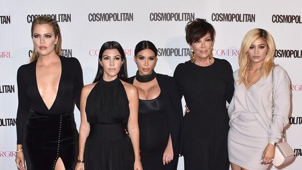 Khloe Kardashian, from left, Kourtney Kardashian, Kim Kardashian, Kris Jenner and Kylie Jenner arrive at Cosmopolitan magazine's 50th birthday celebration at Ysabel on Monday, Oct. 12, 2015, in West Hollywood, California. - Sputnik International