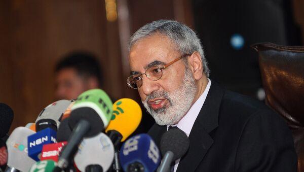 Syrian Information Minister Omran al-Zoubi speaks during a press conference in Damascus, Syria (File) - Sputnik International