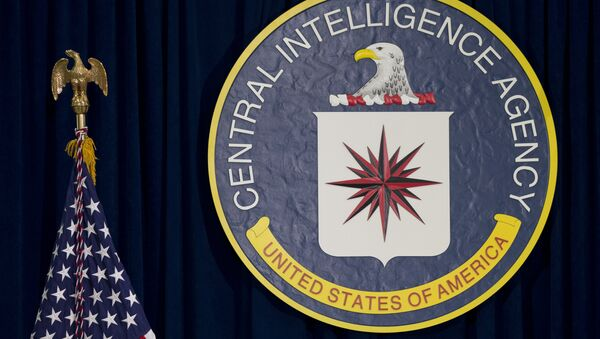 he The CIA seal is seen displayed before President Barack Obama speaks at the CIA Headquarters in Langley, Va., Wednesday, April 13, 2016 - Sputnik International