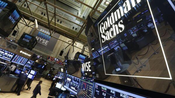 Goldman Sachs trading post on the floor of the New York Stock Exchange (File) - Sputnik International