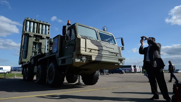Anti-aircraft guided missile system Vityaz at the MAKS-2013 Air Show in Zhukovsky, the Moscow suburbs - Sputnik International