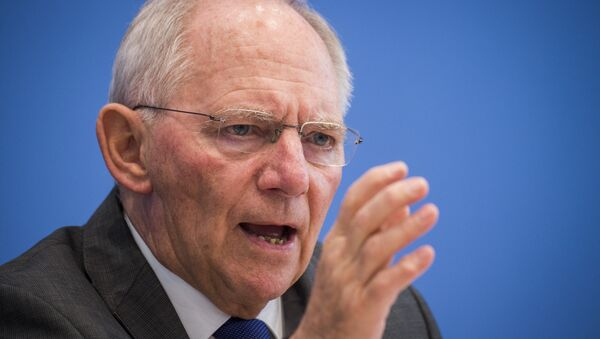 German finance minister Wolfgang Schäuble speaks during a press conference on the 2017's budget in Berlin on March 23, 2016. - Sputnik International
