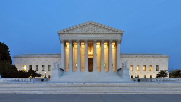 Panorama of the west facade of United States Supreme Court Building in Washington - Sputnik International