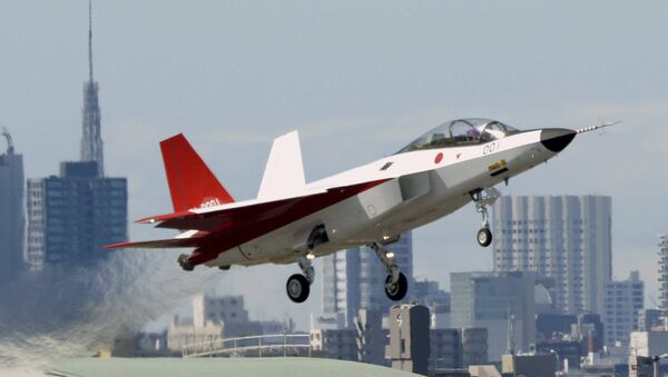 A prototype of the first Japan-made stealth fighter X-2 Shinshin, formerly called ATD-X - Sputnik International